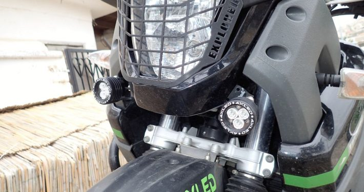 Auxiliary headlights 4XLED on XT660Z