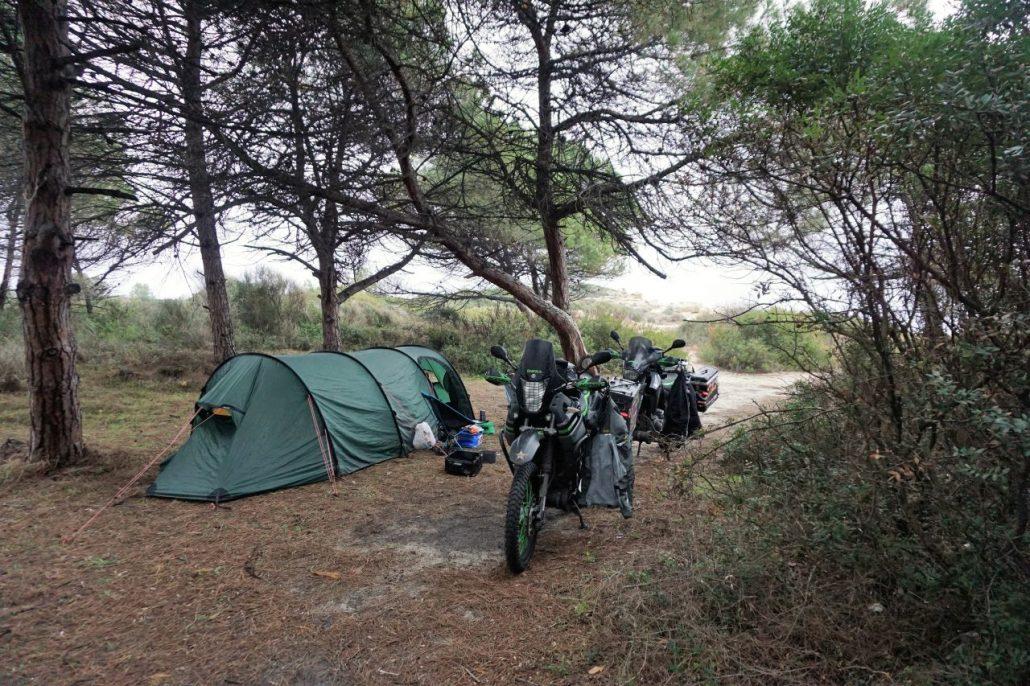 First wild camping spot