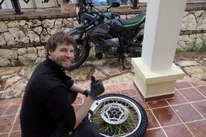 Fixing the tyre