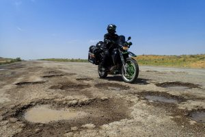 Potthole infested highway