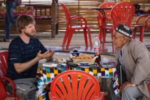 Nice chat with an Uzbek gentleman
