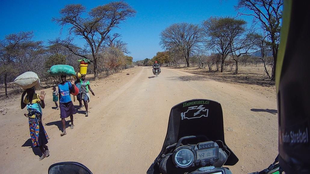 Riding along Lake Kariba