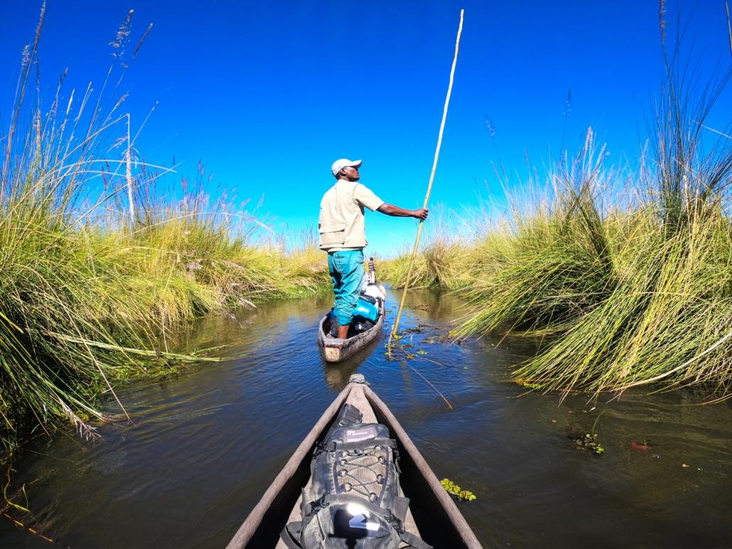 With the Mokoro into the Okavango Delta