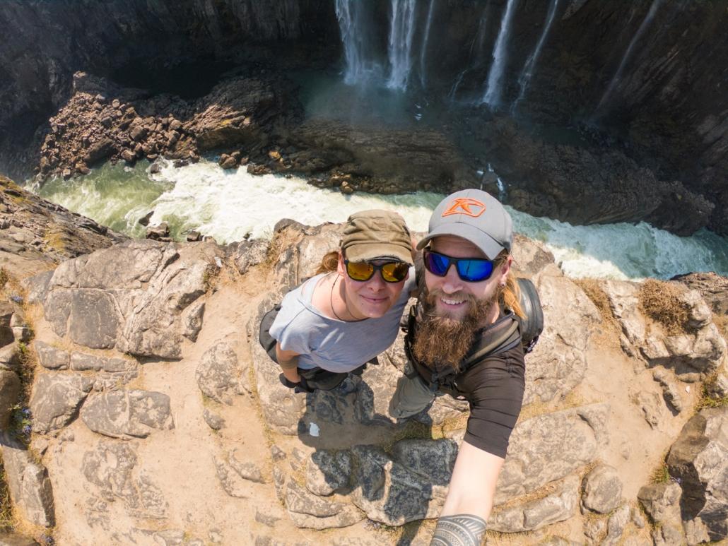 At the Vic Falls