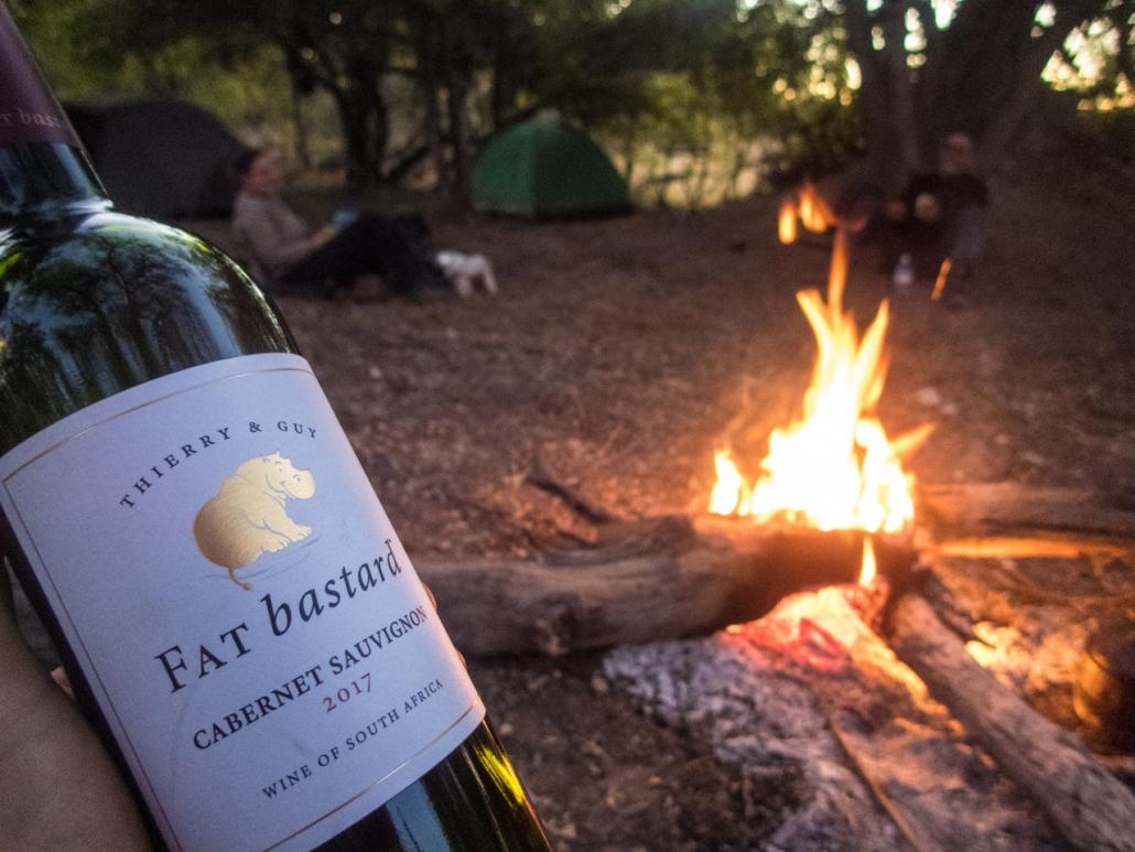 Wild camping on the Okavango Delta in style