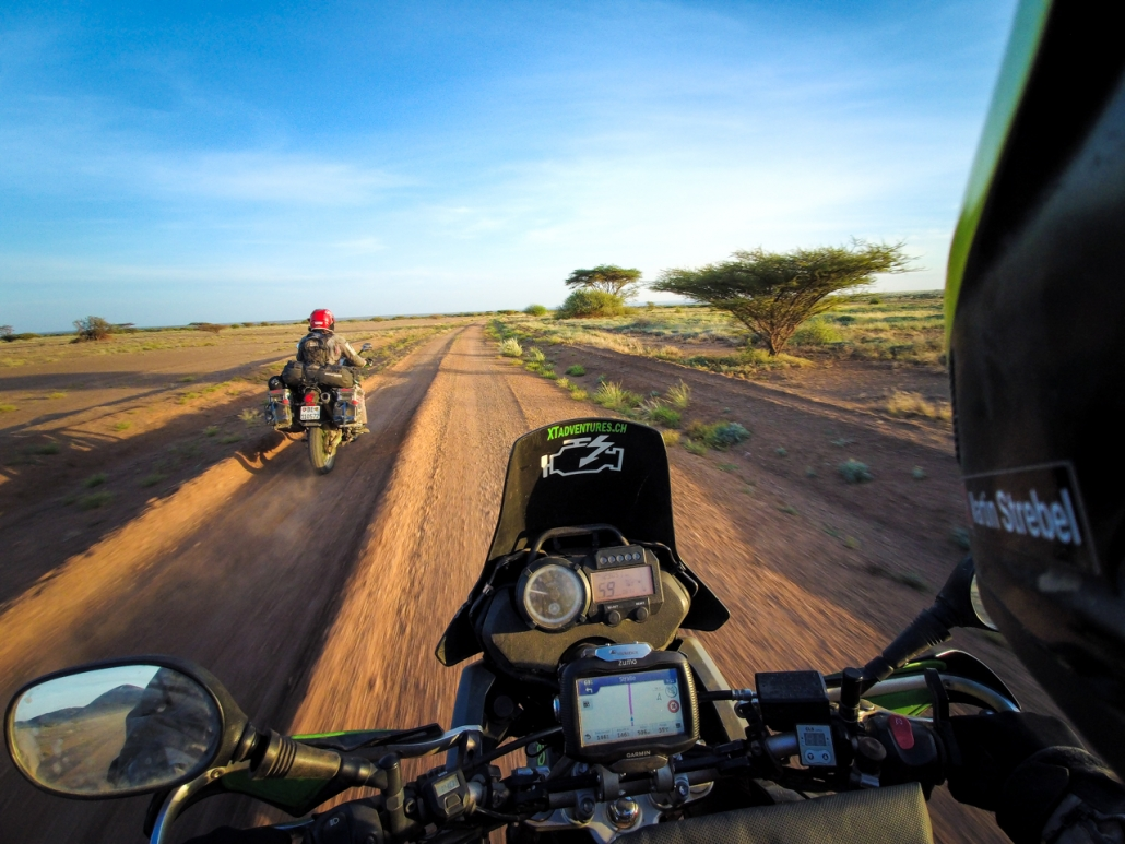Off we go towards the green border of Ethiopia