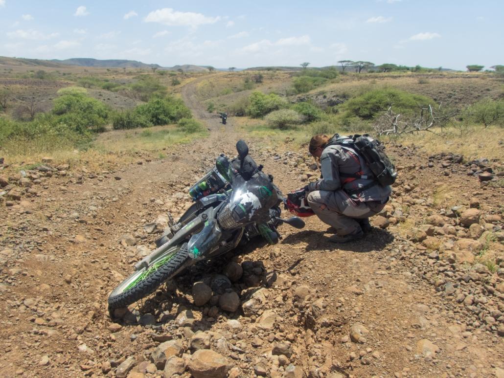 Hard day along the lake Turkana